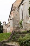 多米尼加共和国的修道院的片段是在1289个特点建造的哥特式教会巴洛克式的内部 Sighisoara市Castke在罗马 免版税库存图片