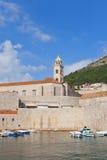 多米尼加共和国的修道院(第14个c ) 在杜布罗夫尼克,克罗地亚 免版税库存图片