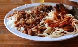 多米尼加共和国的午餐 免版税库存图片