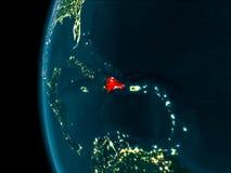 多米尼加共和国的夜视图 库存图片