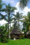 多米尼加共和国的小屋按摩共和国 免版税图库摄影