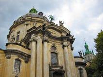 多米尼加共和国的教会,利沃夫州乌克兰 免版税库存图片