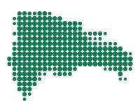 多米尼加共和国的映射共和国 库存例证