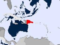 多米尼加共和国的映射共和国 免版税库存图片