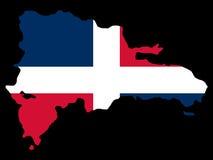 多米尼加共和国的映射共和国 皇族释放例证