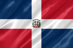 多米尼加共和国的标志共和国 库存例证
