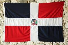 多米尼加共和国的标志共和国 库存照片