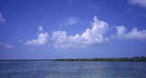 多米尼加共和国的海岛全景共和国saona 库存图片