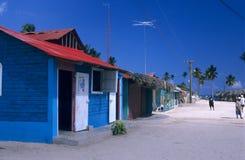 多米尼加共和国的海岛共和国saona村庄 免版税库存照片