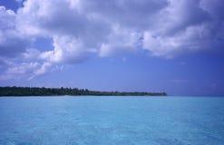 多米尼加共和国的海岛盐水湖共和国sa 库存图片