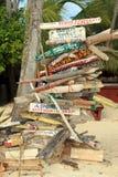 多米尼加共和国的路标 图库摄影