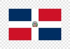 多米尼加共和国-国旗 皇族释放例证