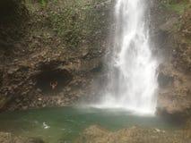 多米尼加瀑布 免版税库存图片