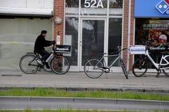 多米诺` S DLIVERY PIAA B自行车 库存图片