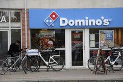 多米诺` S DLIVERY PIAA B自行车 免版税库存照片