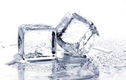 多维数据集冰熔化 库存照片