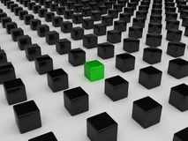 多维数据集另外绿色 皇族释放例证