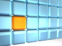 多维数据集墙壁 向量例证