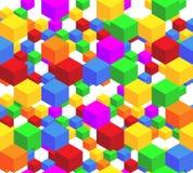 多维数据集模式 免版税库存图片