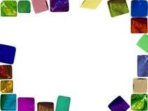 多维数据集透明框架的玻璃 免版税库存图片