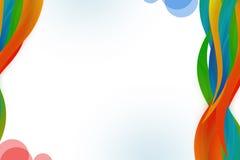 多色丝带右边, abstrack背景 免版税库存照片