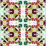 多色地板装饰万花筒样式纹理 向量例证
