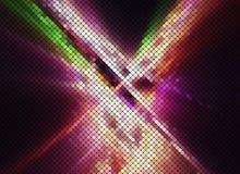 多色对比摘要夜点燃迪斯科方形的映象点mos 免版税图库摄影