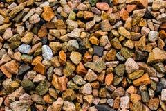 多色岩石背景 免版税库存照片