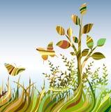 多色抽象的landscare 免版税库存图片