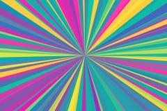 多色摘要发出光线背景 五颜六色的条纹射线样式 时髦的例证现代趋向颜色 免版税库存照片