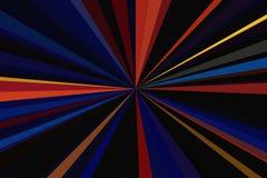 多色摘要发出光线背景 五颜六色的条纹射线样式 时髦的例证现代趋向颜色 库存图片