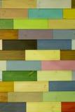 多色木纹理真正的照片  免版税库存照片