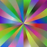 多色梯度光芒背景设计 免版税库存照片