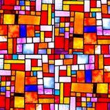 多色模式任意正方形 免版税库存图片