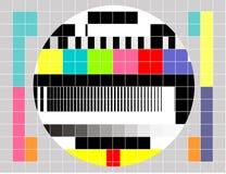 多色模式信号测试电视 免版税库存照片