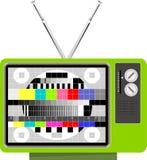 多色模式信号测试电视 库存图片