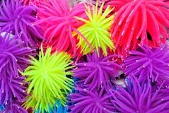 多色橡胶或硅树脂海葵背景  库存图片
