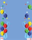 多色气球的庆祝 免版税库存照片