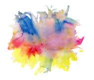 多色水彩斑点 向量例证
