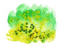 多色水彩斑点 皇族释放例证