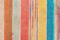 多色的土气地毯 库存照片
