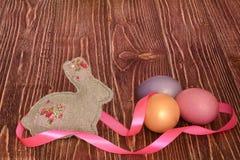 多色的复活节彩蛋 库存照片
