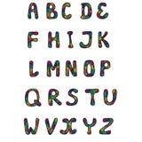 多色的字母表 免版税库存图片