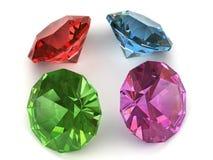 多色的宝石 库存图片
