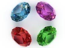 多色的宝石 库存照片
