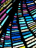 多色的彩色玻璃 免版税库存照片