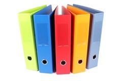 多色的文件夹 免版税库存图片