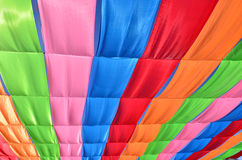 多色的旗子 免版税库存照片