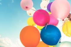 多色的气球 库存照片
