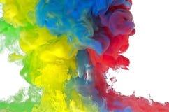 多色的液体 库存图片